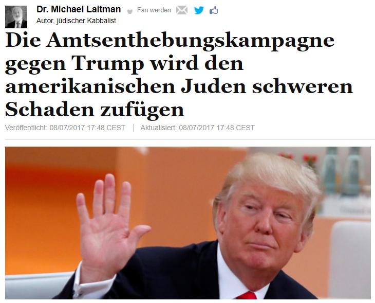 Die Amtsenthebungskampagne gegen Trump wird den amerikanischen Juden schweren Schaden zufügen