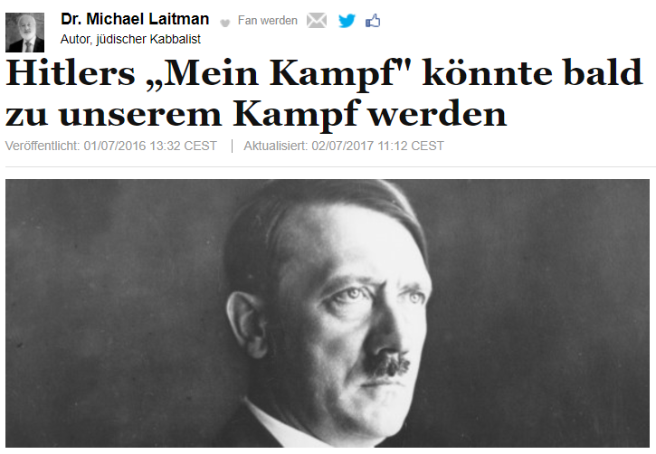 Hitlers Mein Kampf könnte bald zu unserem Kampf werden