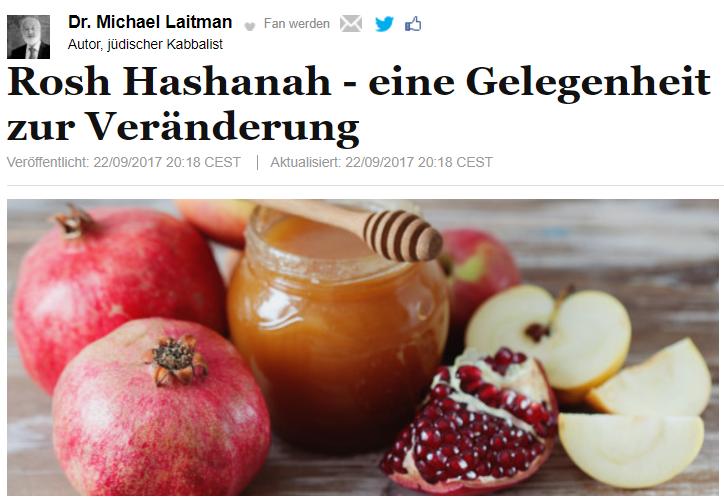 Rosh Hashanah - eine Gelegenheit zur Veränderung