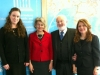 Michael Laitman with members of his staff and UNESCO Director General Mrs. Irina Bokova at a meeting of the World Wisdom Council