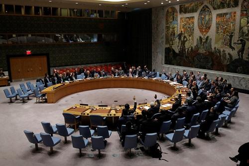"""""""לא יישא גוי אל גוי חרב, ולא יִלמדו עוד מלחמה"""". בניין האו""""ם (צילום:רויטרס)"""