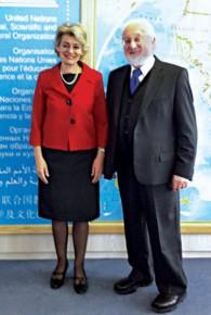 """""""A true visionary."""" Irina Bokova Director-General of UNESCO Paris, 2011"""