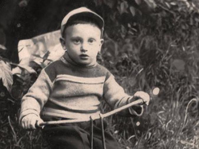 Michael Laitman da bambino a Vitebsk, Bielorussia.