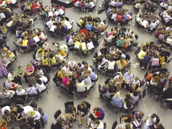 Cerchi di connessione durante il Congresso di kabbalah del 2016.