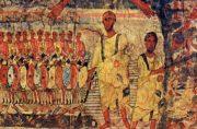 Ebrei attraversano il Mar Rosso inseguiti dal Faraone. Affresco della sinagoga di Dura Europos Credit: Wikimedia Commons