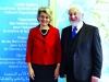 Michael Laitman poses with UNESCO Director General Mrs. Irina Bokova in France.
