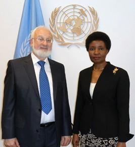 Möte med dr Asha-Rose Migiro, FN:s biträdande generalsekreterare.