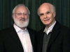 Michael Laitman with Irvin Laszlo at meeting of World Wisdom Council