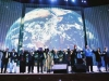 Michael Laitman (sixth from left) participates in opening ceremonies at a meeting of the World Wisdom Council
