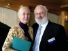 Michael Laitman with Jane Goodall at a meeting of the World Wisdom Council