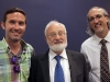 Michael Laitman with Todd Goldfarb another member] at a meeting of the World Wisdom Council