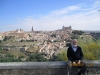Michael Laitman relaxes at a city overlook when on tour