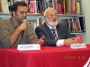 Michael Laitman at book-signing discussing a new book