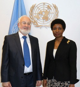 Meeting with Dr. Asha-Rose Migiro, Deputy Secretary General of the United Nations.